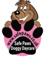 Dog Day Care Centre, Stirling with Safe Paws Logo